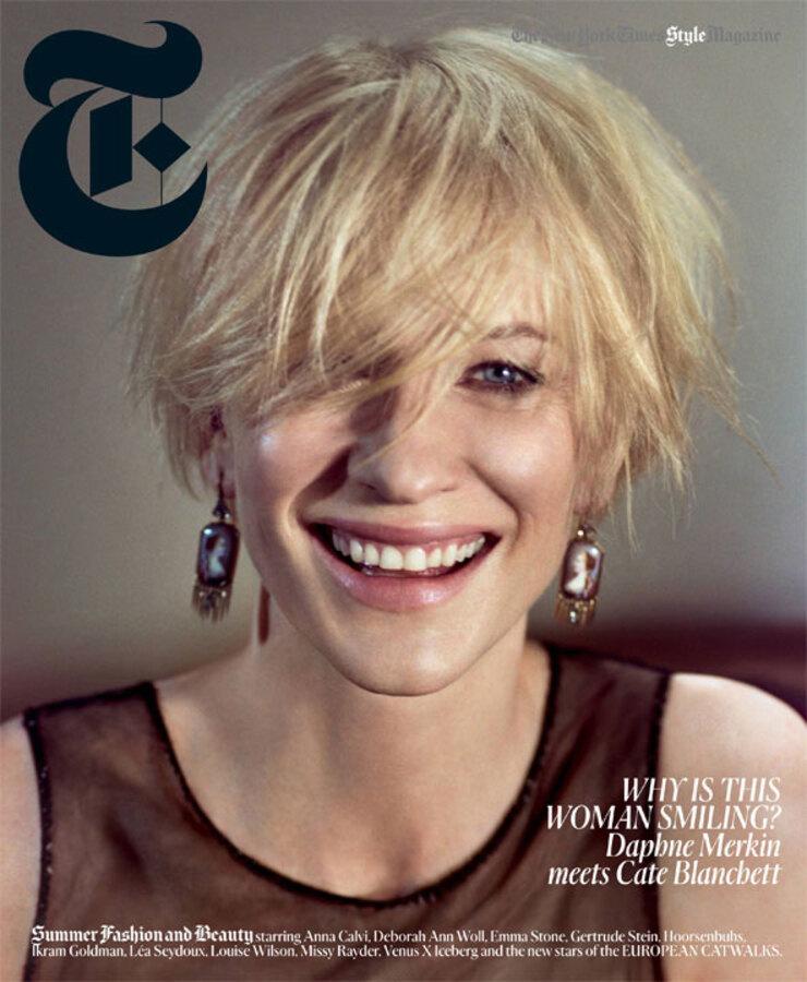 Кейт Бланшетт в журнале  New York Times  T Style