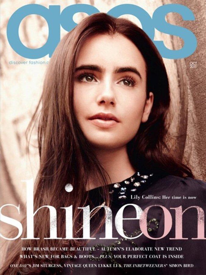 Лили Коллинз в журнале ASOS. Октябрь 2011