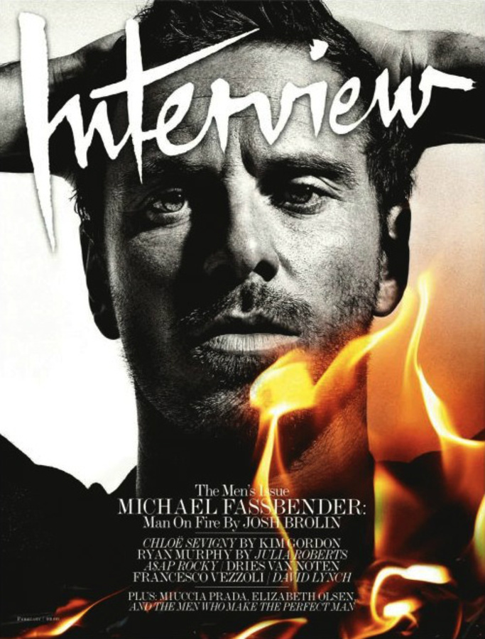 Майкл Фассбендер в журнале Interview. Февраль 2012
