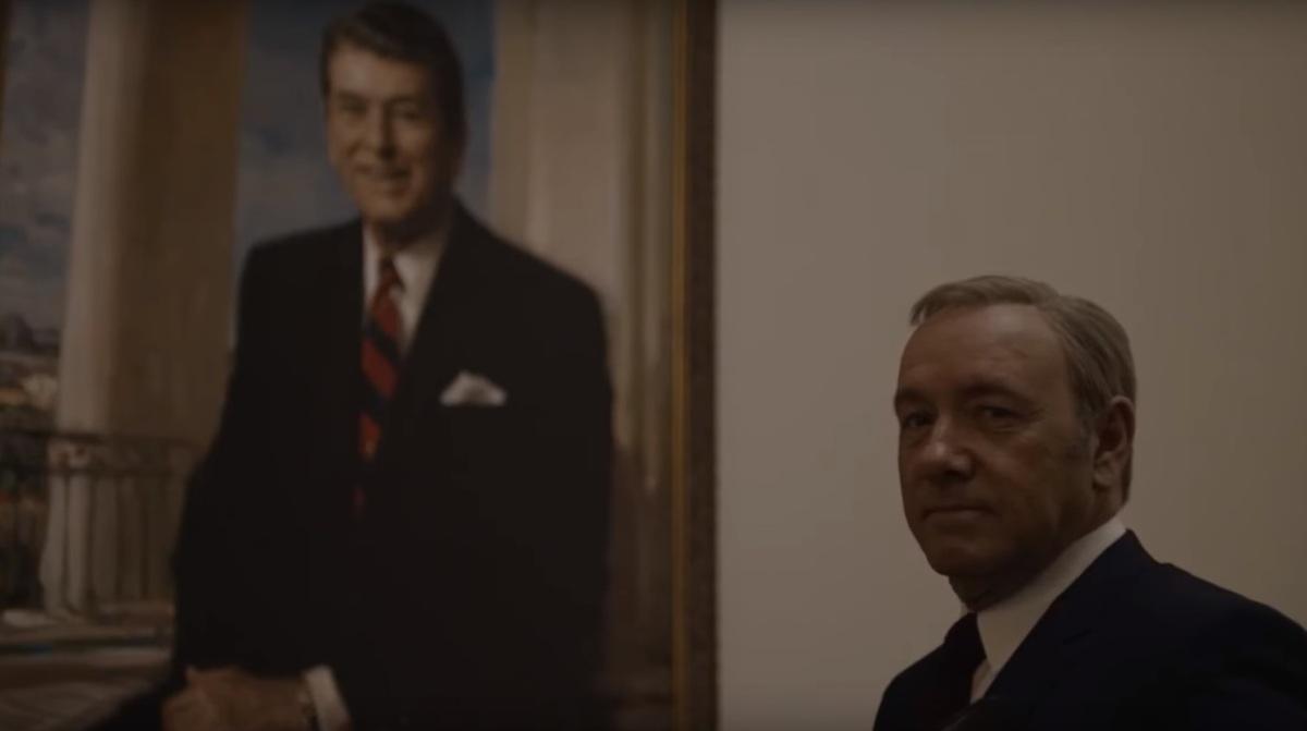 «Карточный домик» показал президентский портрет Фрэнка Андервуда в новом видео из 4 сезона