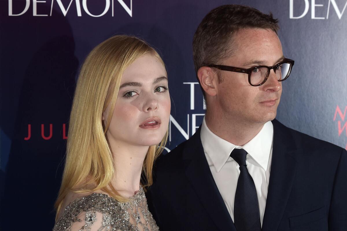 Эль Фаннинг на премьере фильма «Неоновый демон» в Лондоне