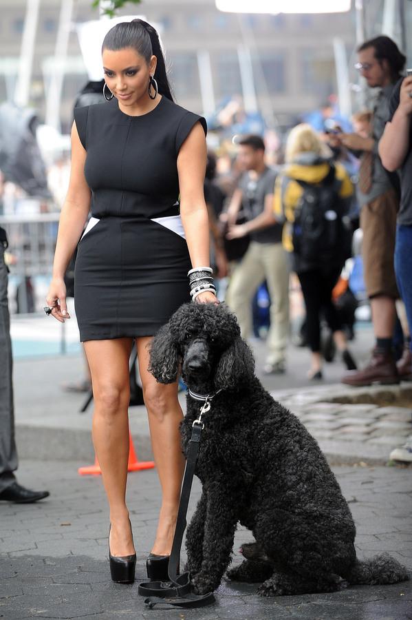 Ким Кардашиан и Хайди Клум на съемках телешоу «Проект Подиум»