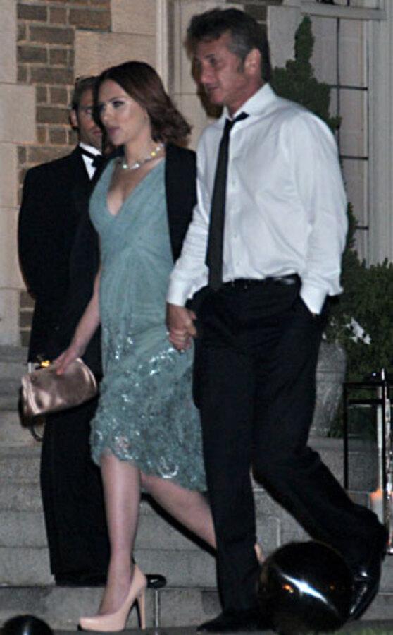 Скарлетт Йоханссон и Шон Пенн на мероприятии в Белом Доме