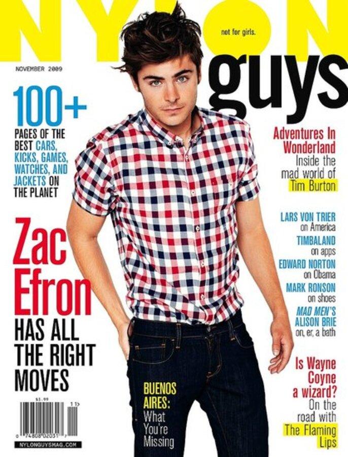 Зак Эфрон в журнале Nylon Guys. Ноябрь 2009