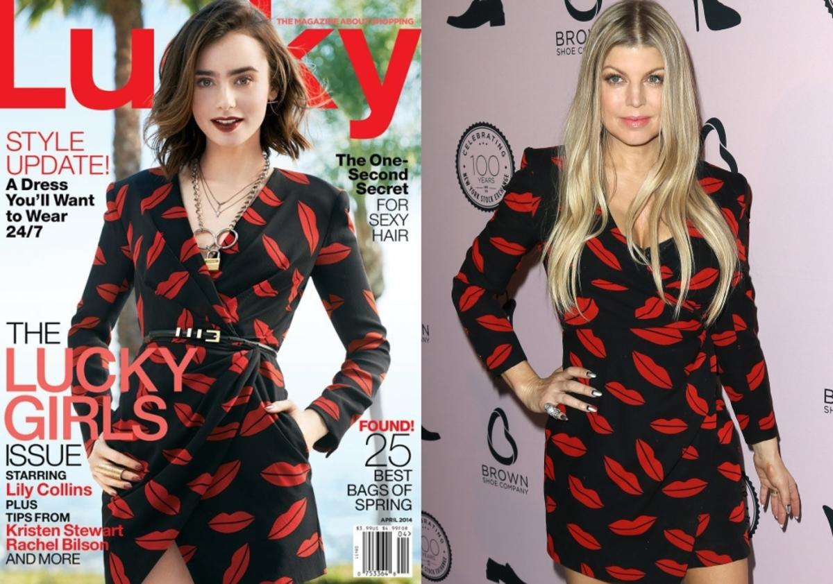 Fashion battle: Лили Коллинз и Ферги