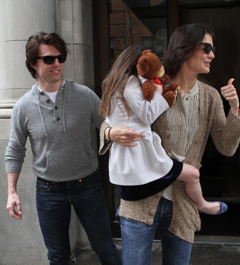 Том Круз и Кэти Холмс в Нью-Йорке