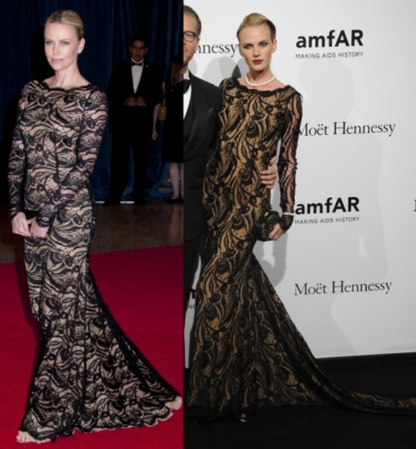 Fashion battle: Шарлиз Терон и Анна Вьялицына