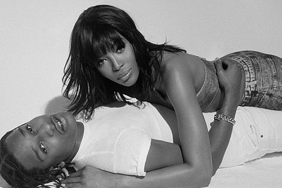 Наоми Кэмпбелл и A$AP Rocky снялись в новой фотосессии для журнала Pop