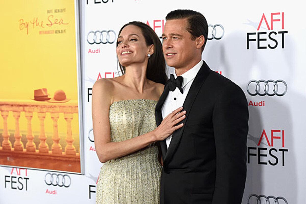 Анджелина Джоли и Брэд Питт на премьере «Лазурного берега» в Лос-Анджелесе