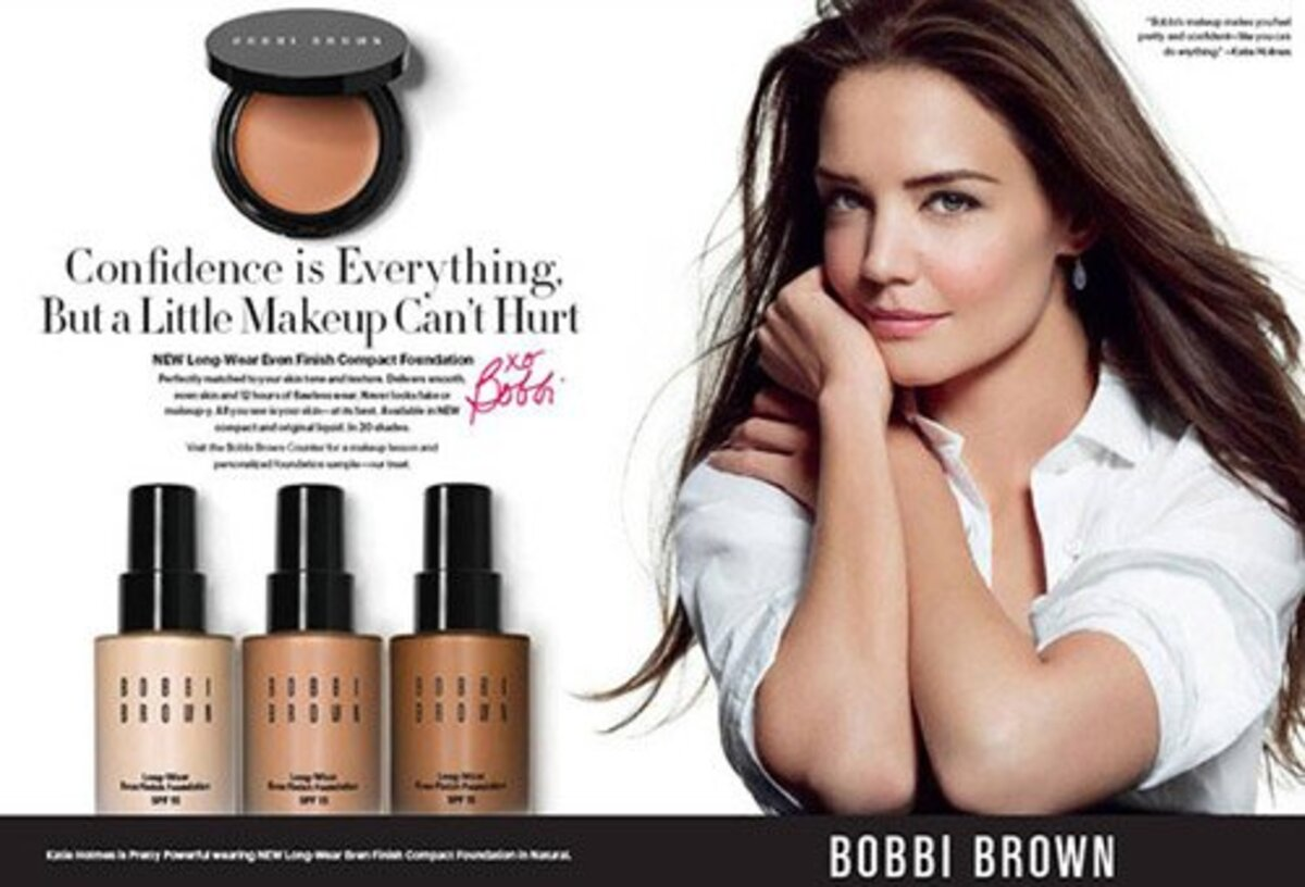 Кэти Холмс в рекламе Bobbi Brown