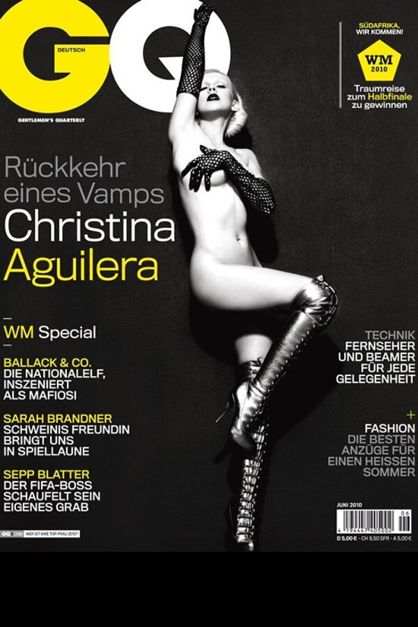 Кристина Агилера разделась для немецкого журнала GQ