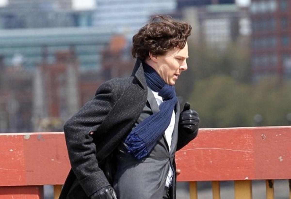 Бенедикт Камбербэтч на съемках 4 сезона «Шерлока»: новые фото