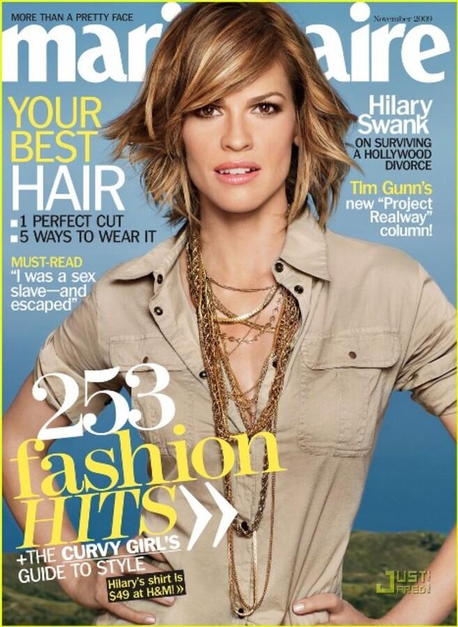 Хилари Суонк в журнале US Marie Claire. Ноябрь 2009