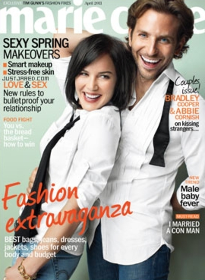 Эбби Корниш и Брэдли Купер в журнале Marie Claire US. Апрель 2011