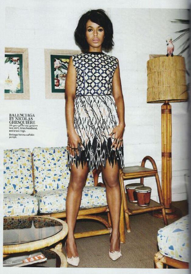 Керри Вашингтон в журнале InStyle. Май 2013