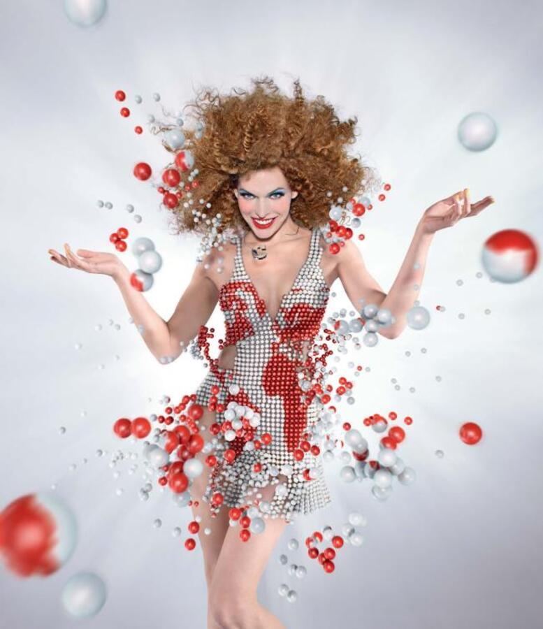 Милла Йовович для календаря Campari 2012 года