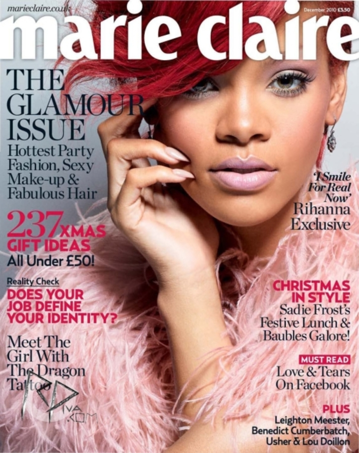 Рианна в журнале Marie Claire. Декабрь 2010