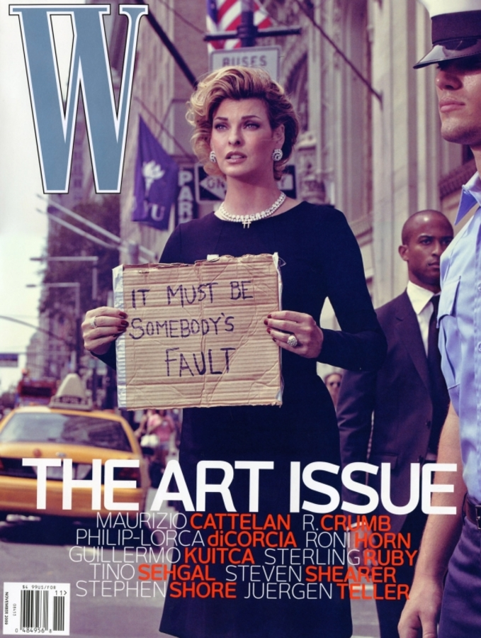 Линда Евангелиста в журнале W. Ноябрь 2009. The Art Issue