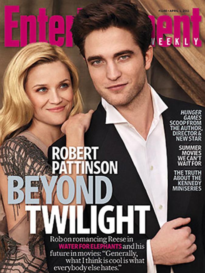 Риз Уизерспун и Роберт Паттинсон на обложке Entertainment Weekly