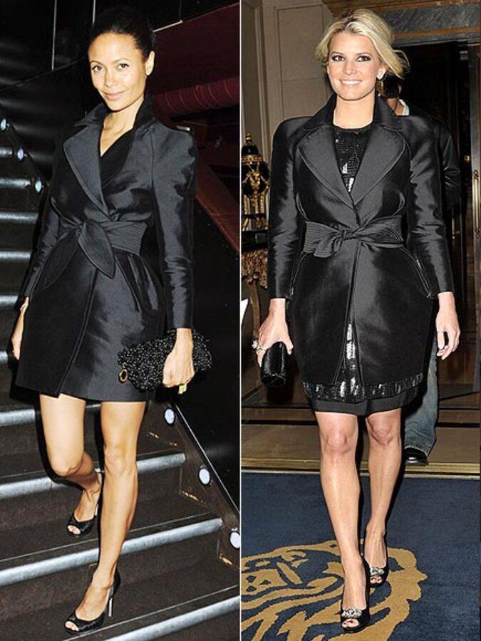 Fashion battle: Тэнди Ньютон и Джессика Симпсон