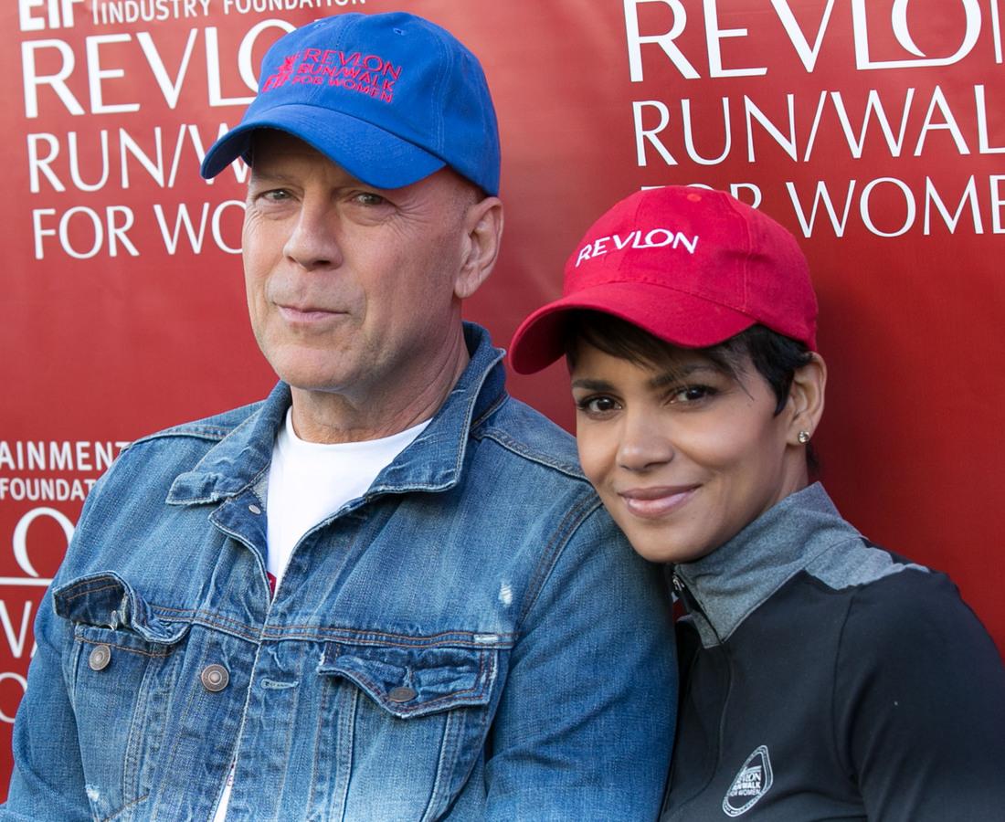 Холли Берри и Брюс Уиллис на благотворительном забеге