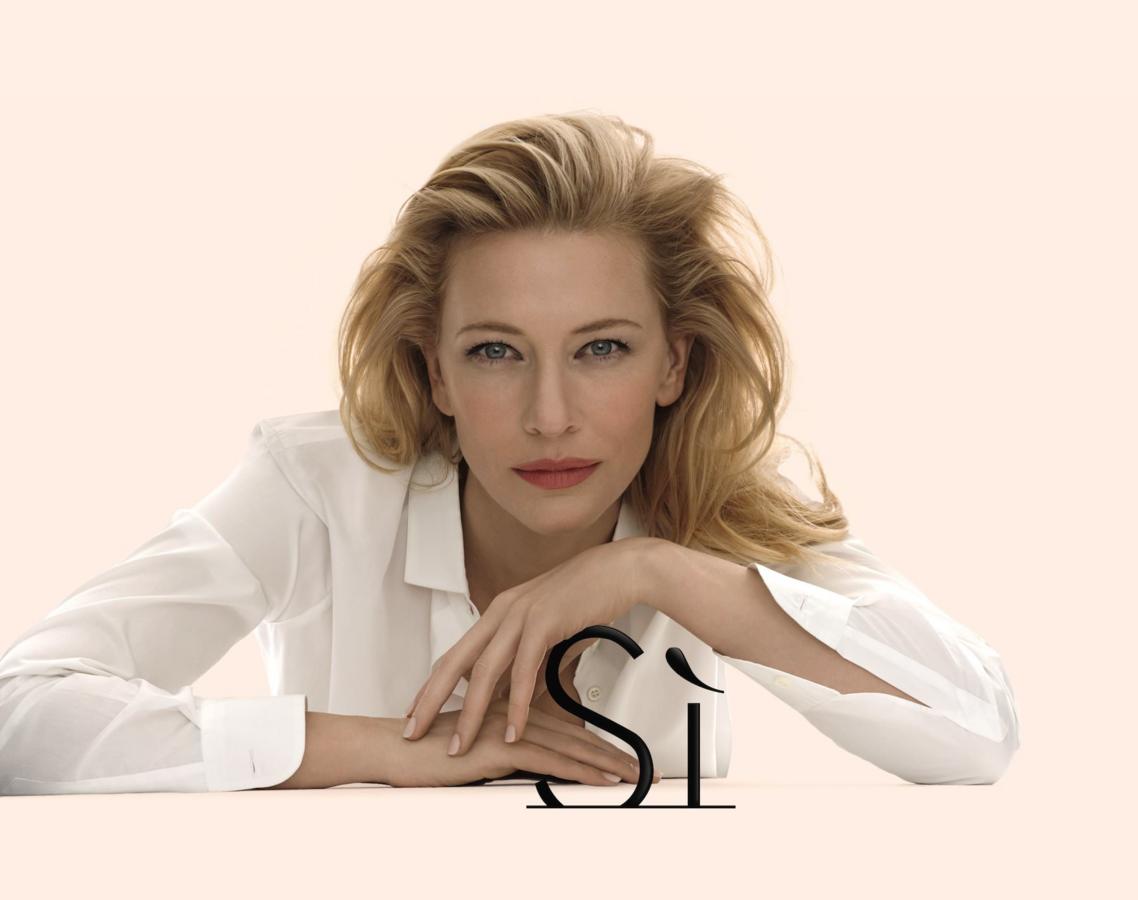 Кейт Бланшетт снялась в новой рекламной кампании аромат Si от Giorgio Armani