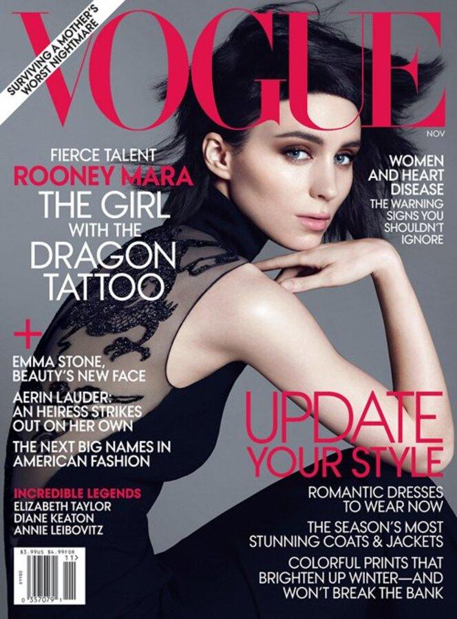 Руни Мара в журнале Vogue. Ноябрь 2011