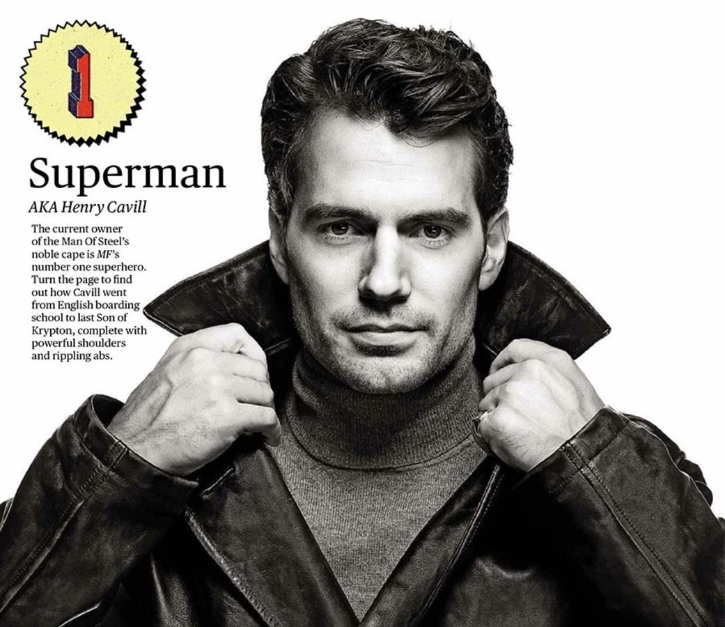 «Супермен» Генри Кэвилл в фотосессии для Men's Fitness, апрель 2016