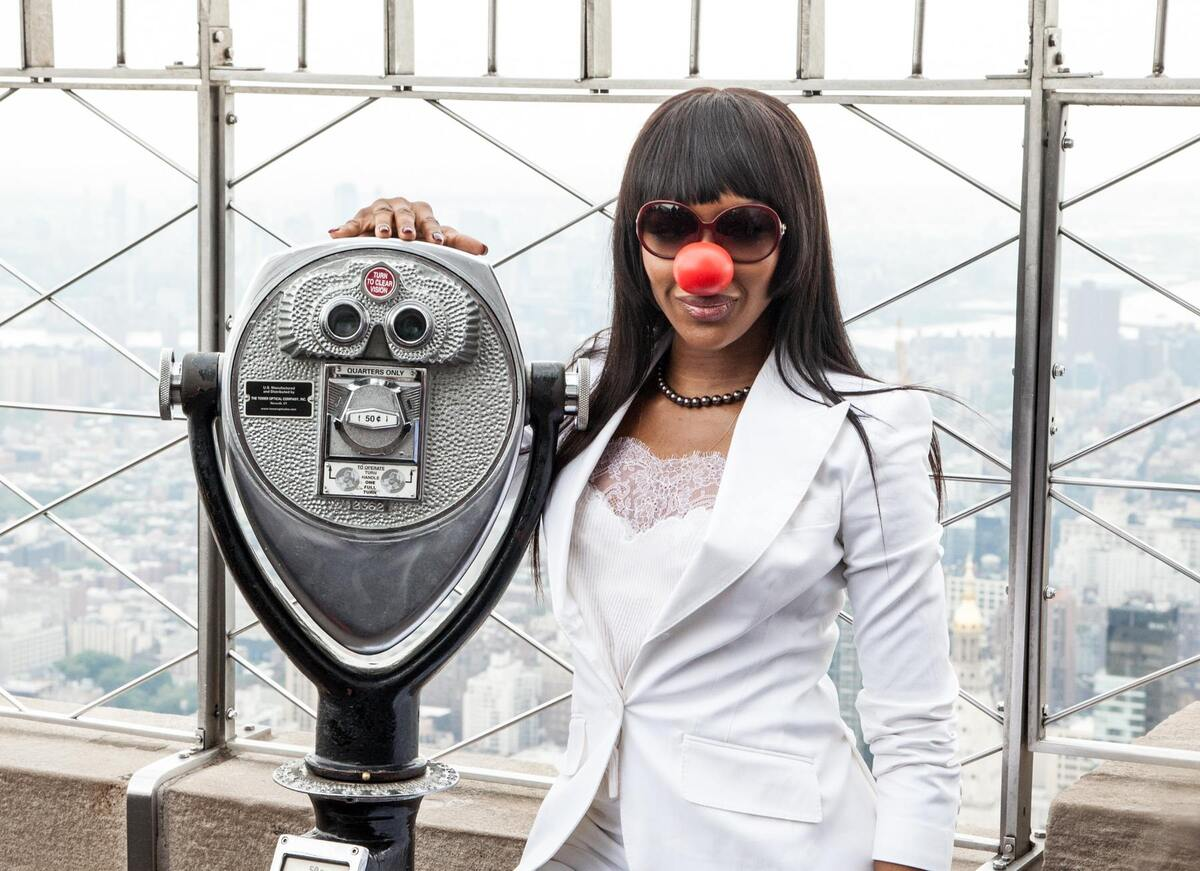 Наоми Кэмпбелл зажгла огни на Empire State Building