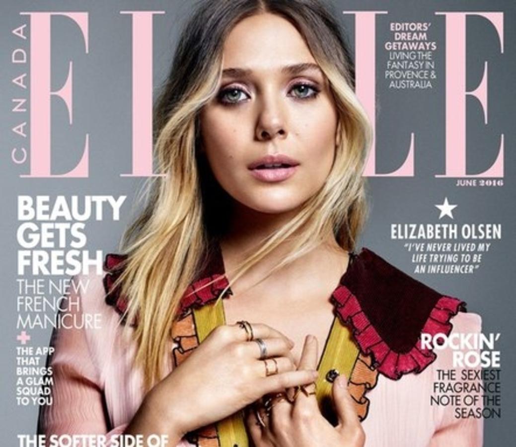 Элизабет Олсен в журнале Elle Канада. Июнь 2016