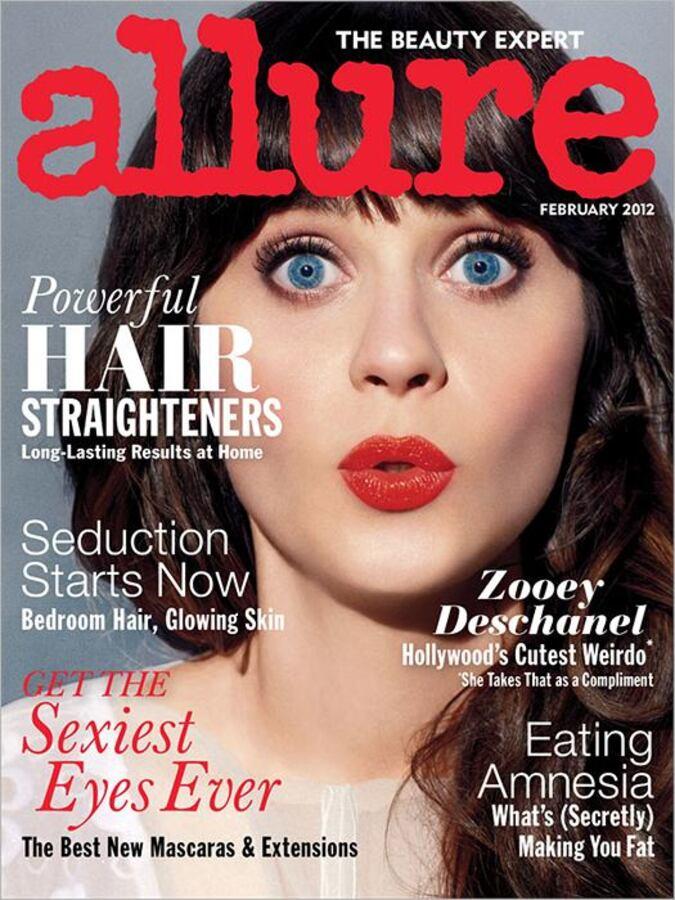Зои Дешанель в журнале Allure. Февраль 2012