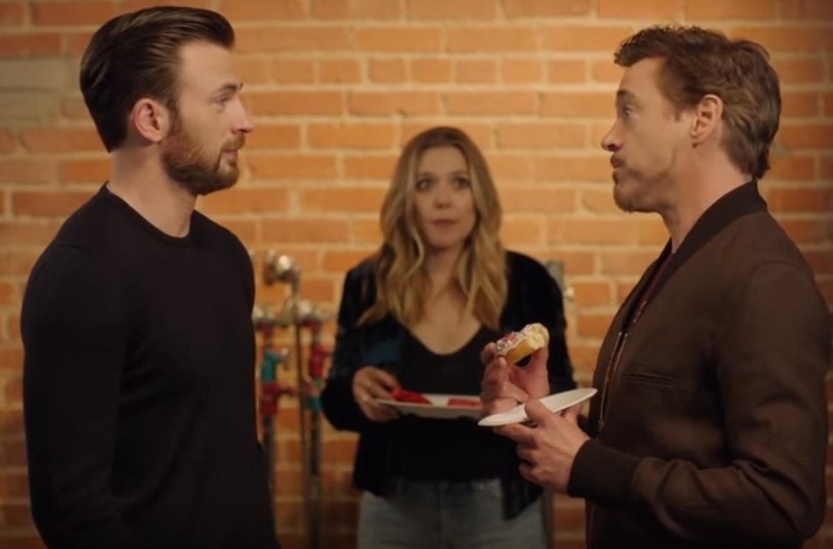 Противостояние Кэпа и Железного человека в душераздирающем видео «Последний пончик»