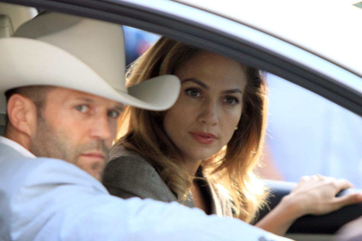 Дженнифер Лопес и Джейсон Стэтэм на съемках фильма «Паркер»