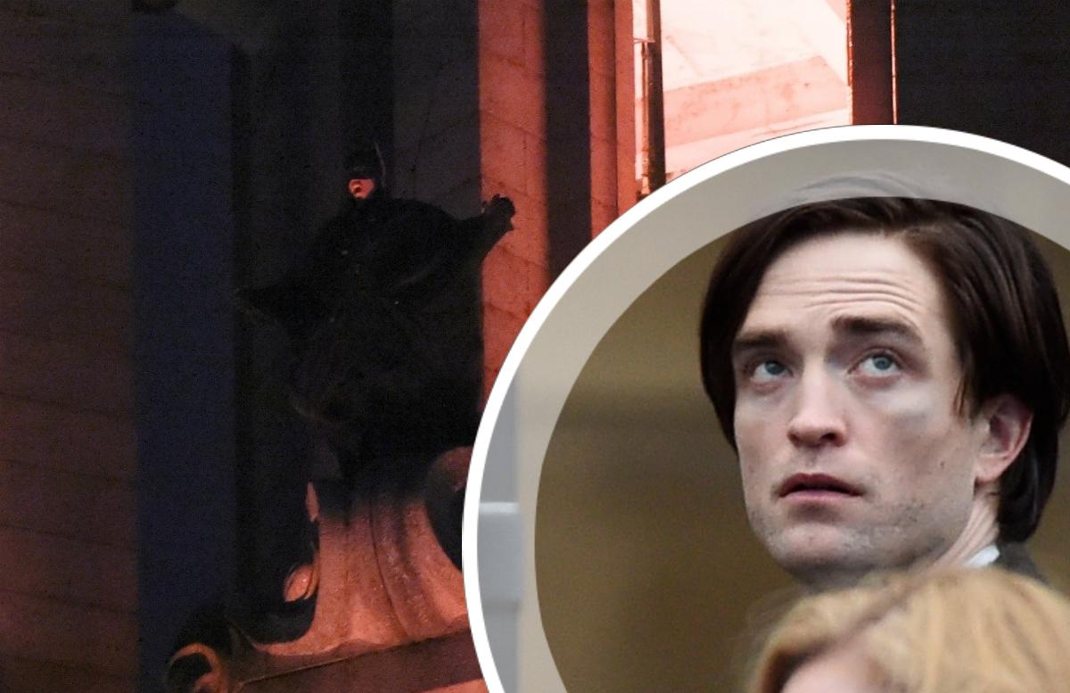 Летающий Брюс Уэйн и похороны на видео со съемок «Бэтмена»