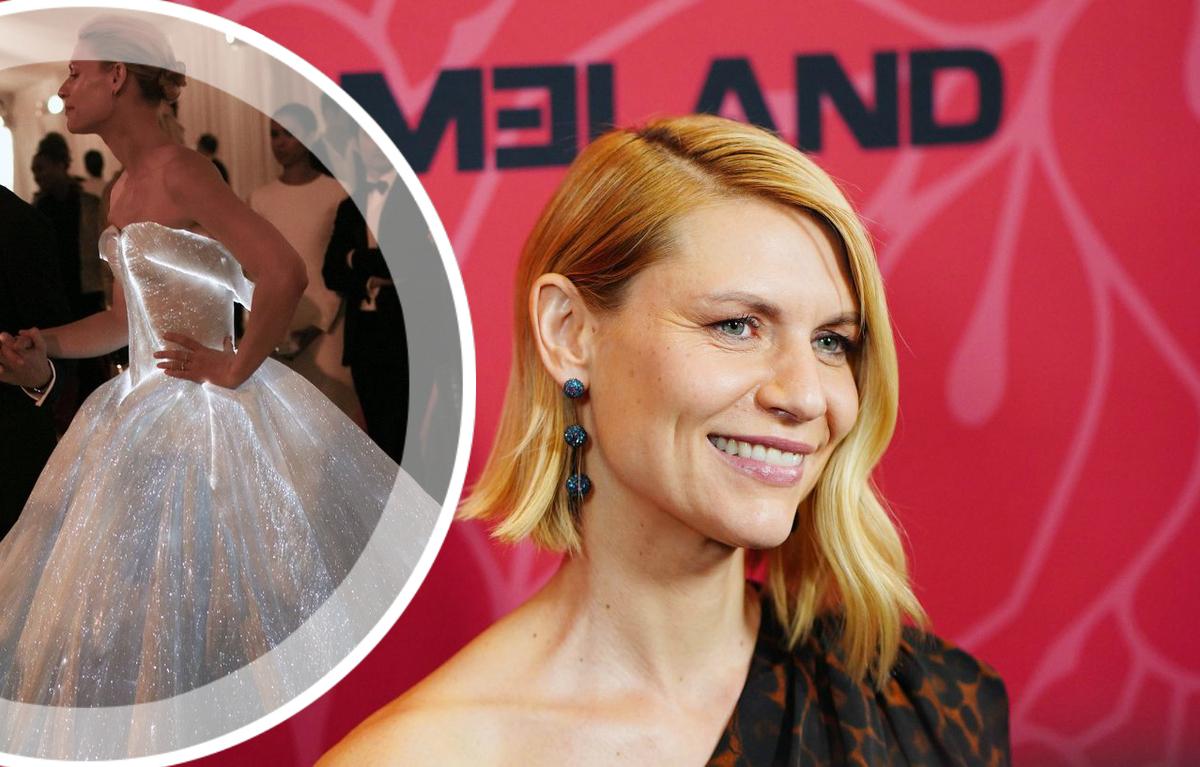 Клэр Дэйнс рассказала, что Ума Турман помогала ей в уборной из-за пышного платья на Met Gala