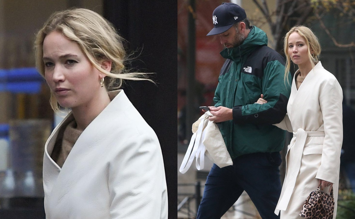 Фото: уставшие Дженнифер Лоуренс и Кук Марони вернулись в Нью-Йорк после медового месяца