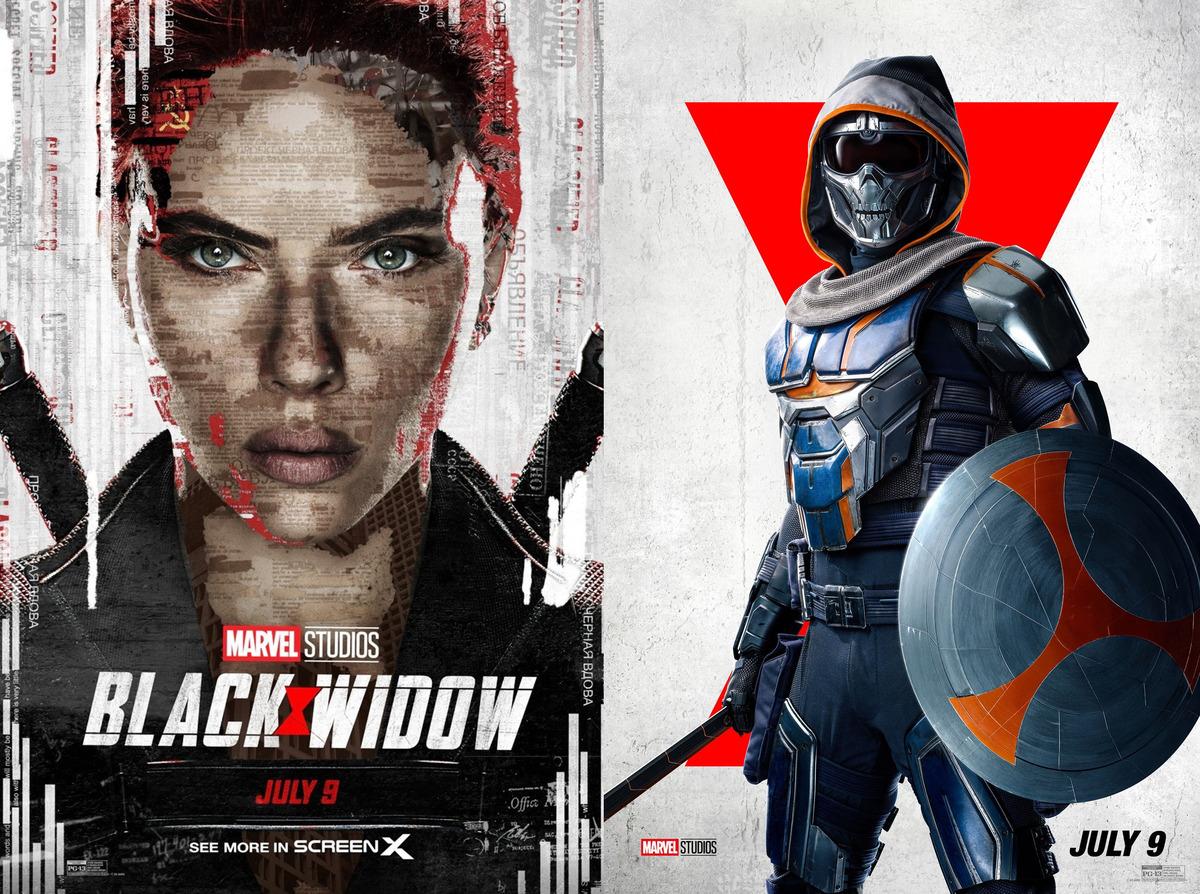 В новом трейлере «Черной вдовы» Таскмастер избивает Красного Стража