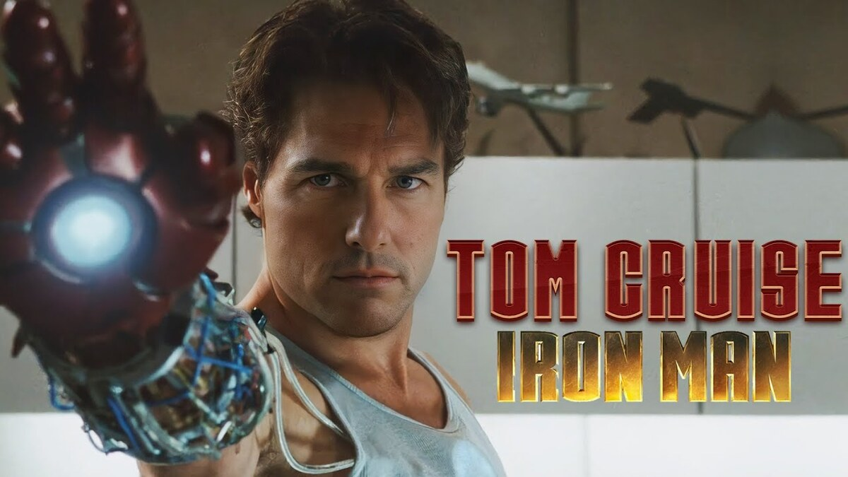 Видео: Том Круз заменил Роберта Дауни-младшего в роли Тони Старка в «Железном человеке»