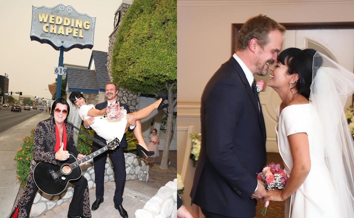 Дэвид Харбор и Лили Аллен поженились в Лас-Вегасе и показали фото