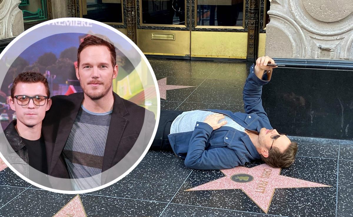 Крис Прэтт сделал селфи со своей звездой на «Аллее славы» на премьере мультфильма «Вперед»