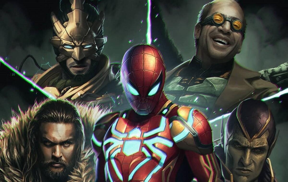 «Зловещая шестерка»: Джейсон Момоа, Хавьер Бардем, Аарон Пол и другие на постере «Человека-паука»