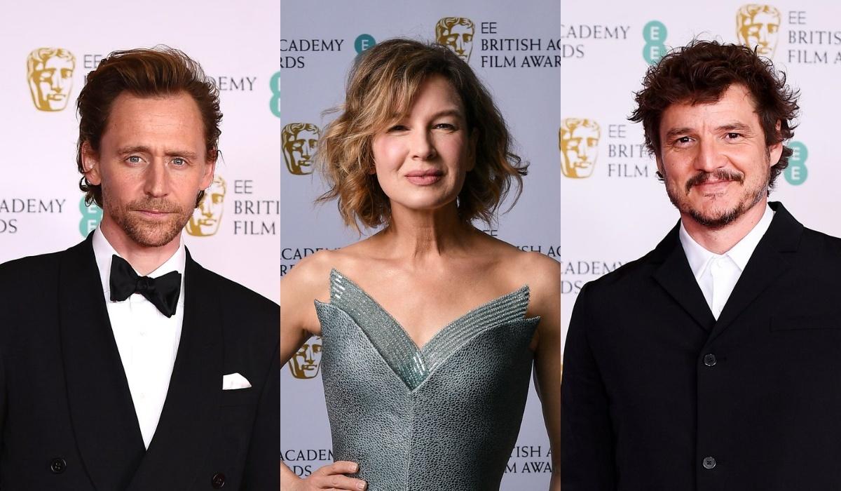 Том Хиддлстон, Рене Зеллвегер, Педро Паскаль на красной дорожке BAFTA 2021