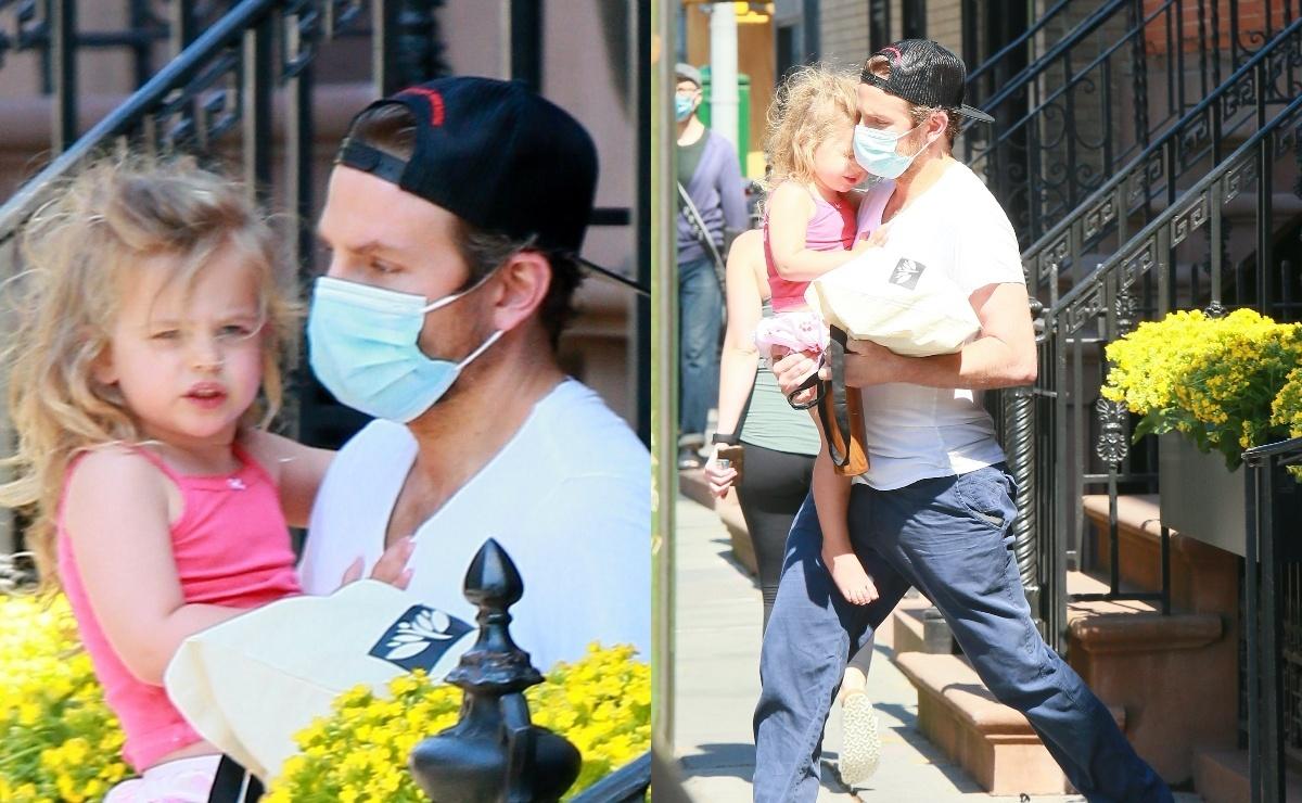 Папина дочка: Брэдли Купера запечатлели на прогулке с трехлетней Леей