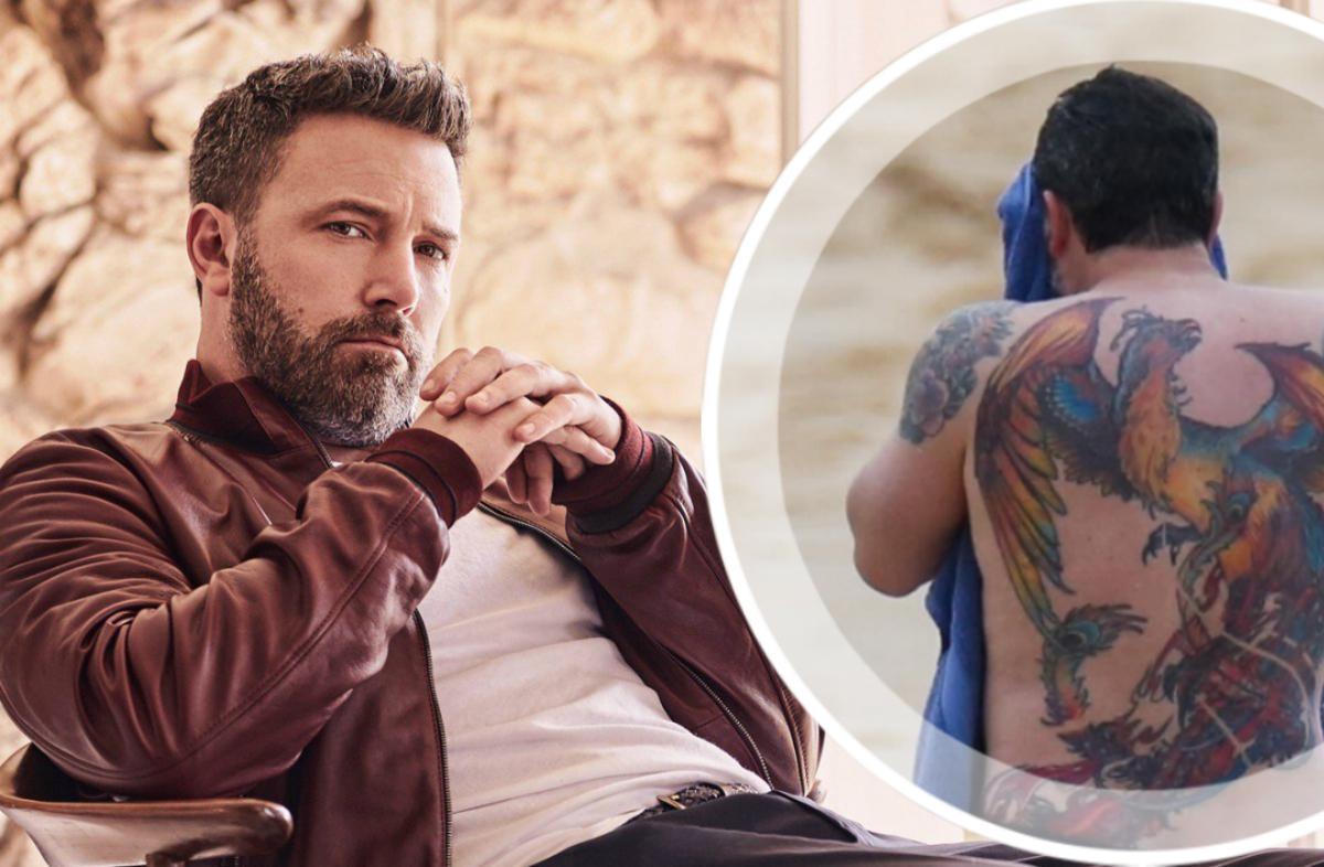 Бен Аффлек объяснил, почему соврал, что его тату на всю спину было ненастоящим