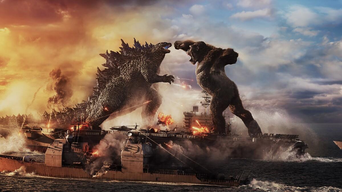 Люди на фоне битвы титанов: студия Warner Bros показала новые кадры из «Годзиллы против Конга»