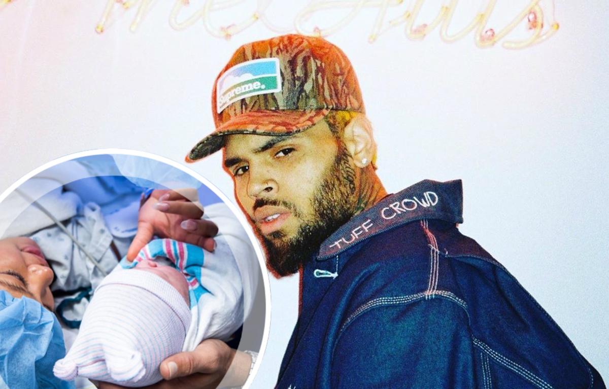 Крис Браун поделился фото с новорожденным сыном