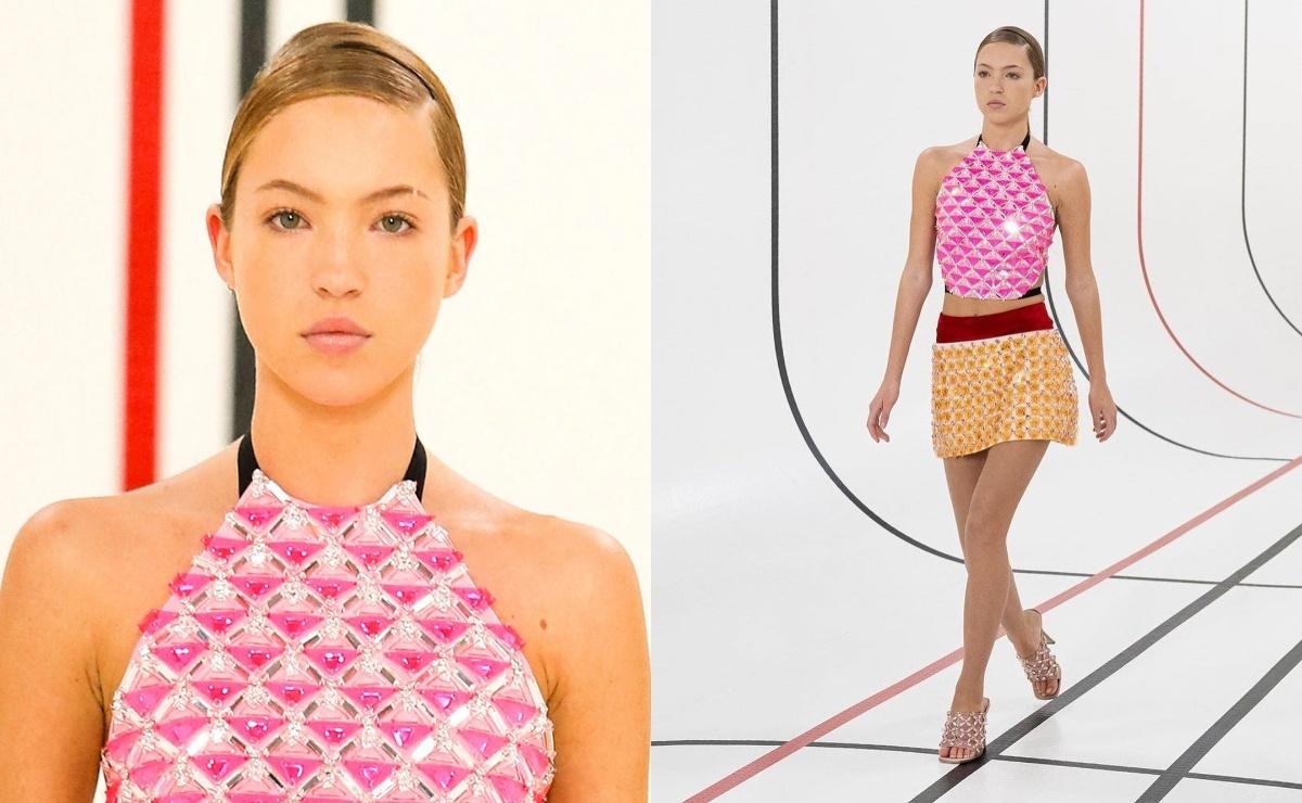 Дочь Кейт Мосс впервые вышла на модный подиум на показе Miu Miu