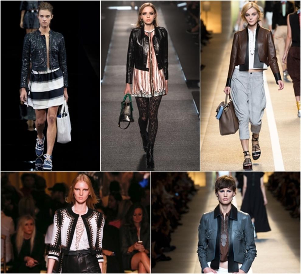 Модные кожаные куртки весна-2015: фото самых стильных моделей и фасонов