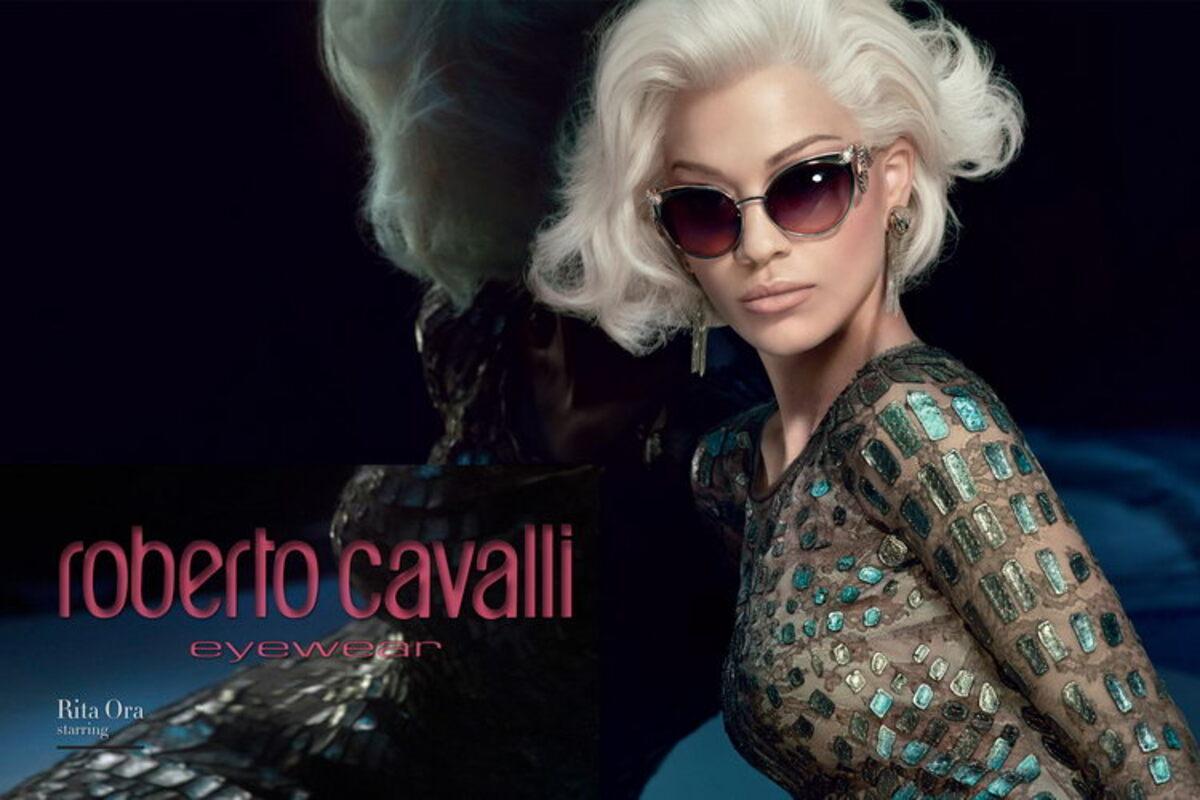 Рита Ора в рекламе очков Roberto Cavalli. Осень / Зима 2015