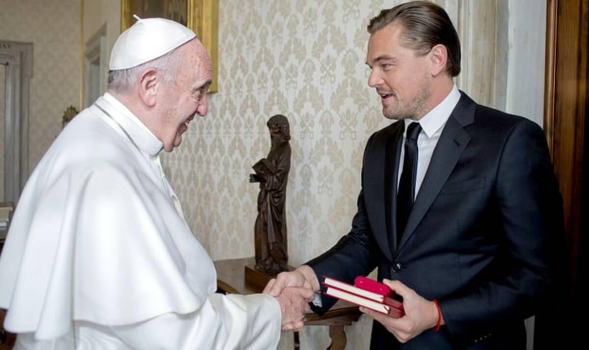 Леонардо Ди Каприо рассказал о свое встрече с Папой Римским